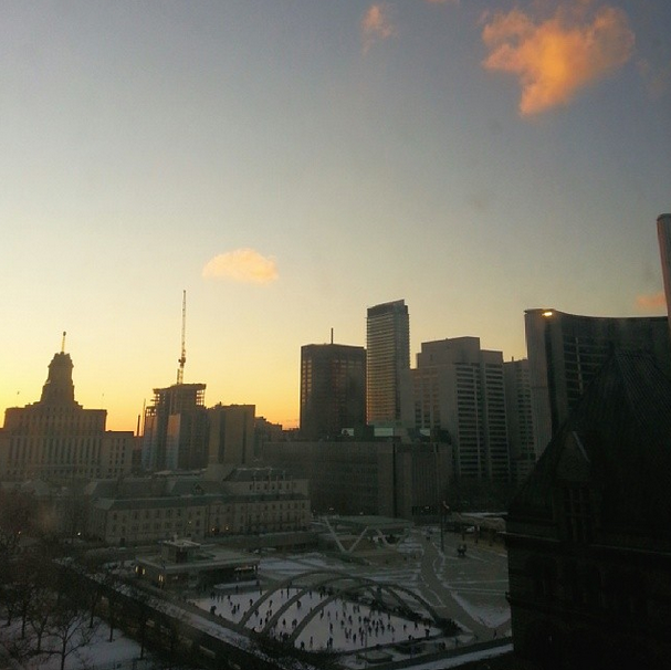the amazing view (Sunday sunset) from the Arcadian Loft!