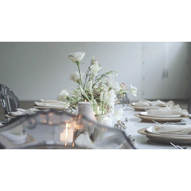every table has room for dialogue. . . . . #beautiful #vignette #editorial #editorialshoot #poetry #photoseries #story #andifyoulistentothelight #bare #space #minimalism #close #sparse #portrait #white #ornate #tablescape #weddingtable #transparent #space #close #flowers #bridalflowers #candles #bridalbouquet