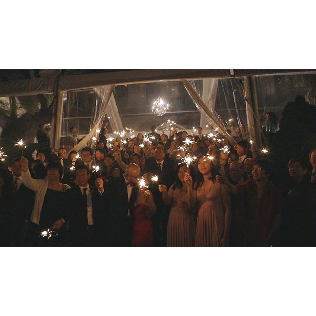 the wedding party, creating a constellation all their own. . . . . . #OneHeartFilms #OHF #love #wedding #TorontoWeddingFilms #TorontoWeddingVideo #TorontoWeddingVideographer #weddingfilms #weddingvideos #weddingday #weddinginspiration #bridalparty #sparklers #bright
