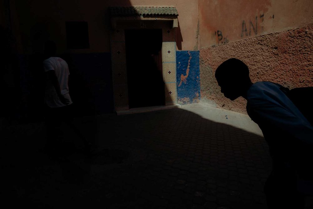 Off-duty in Marrakesh. (James Broadbent)
