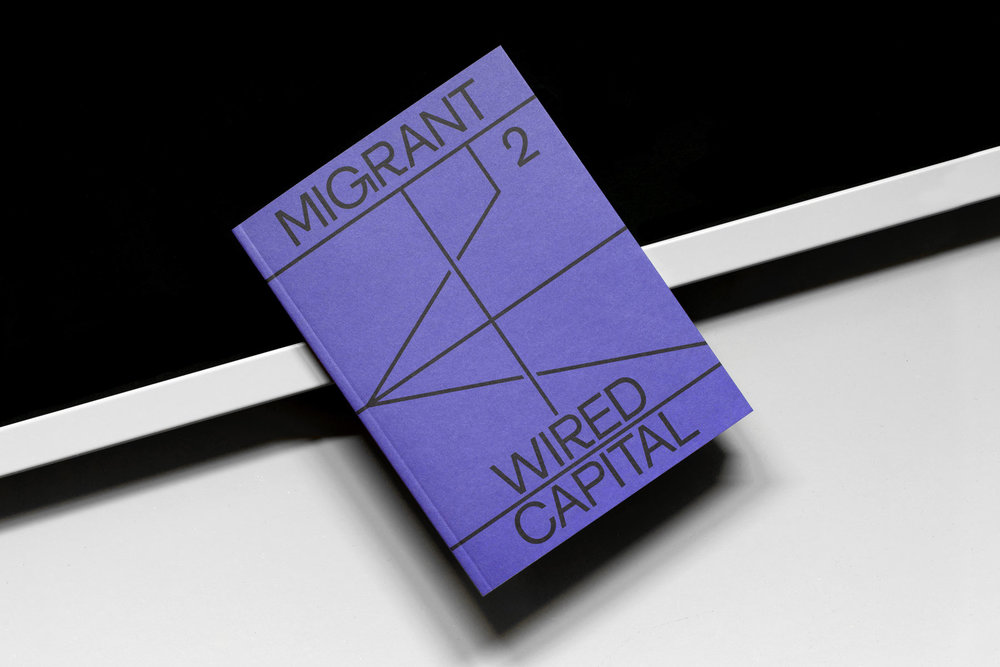 The cover of  Migrant Journal 's second issue.