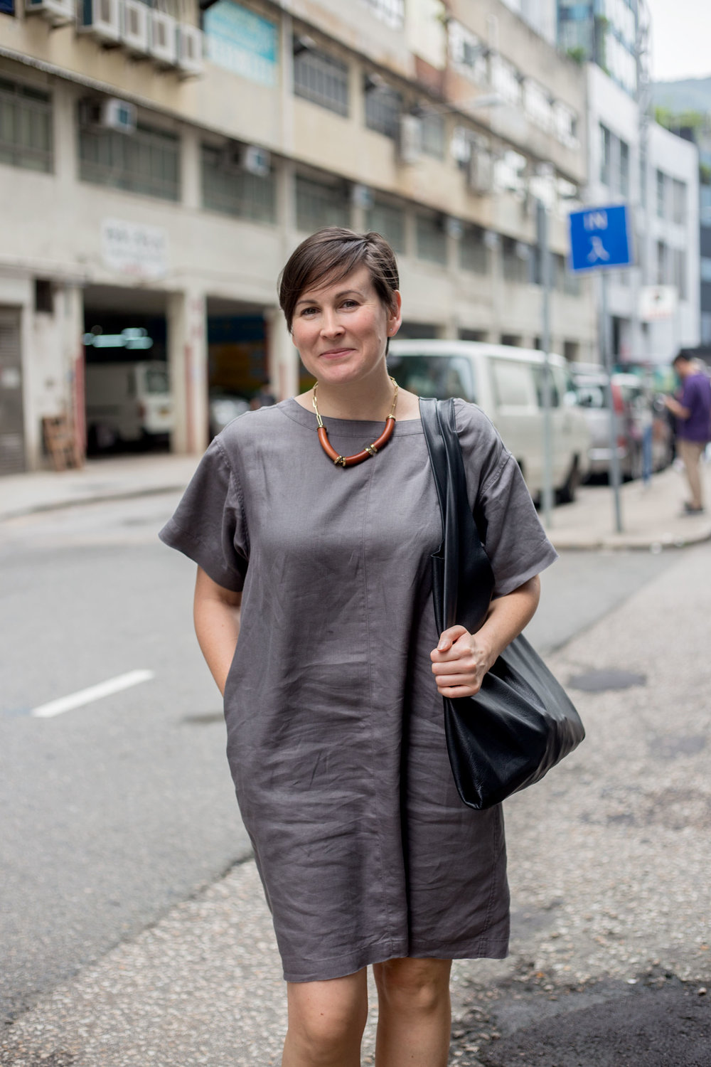 Suzy Annetta near her office in Wong Chuk Hang. (Jeremy Smart for  Aerostorie )