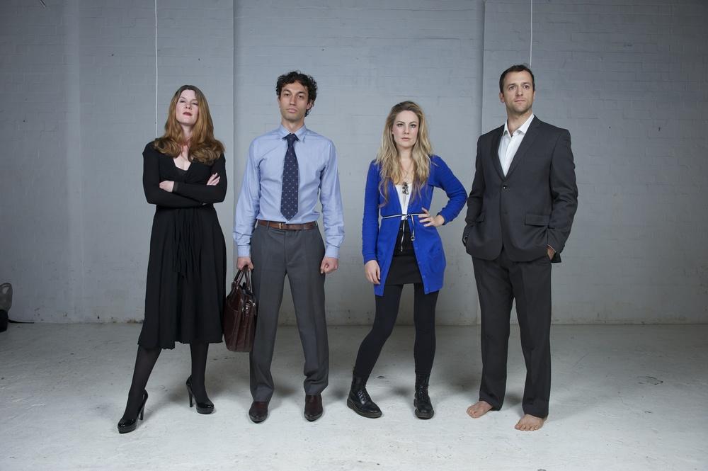 (L-R) Cat Martin, Tim Wardell, Katrina Rautenberg, Michael Cullen