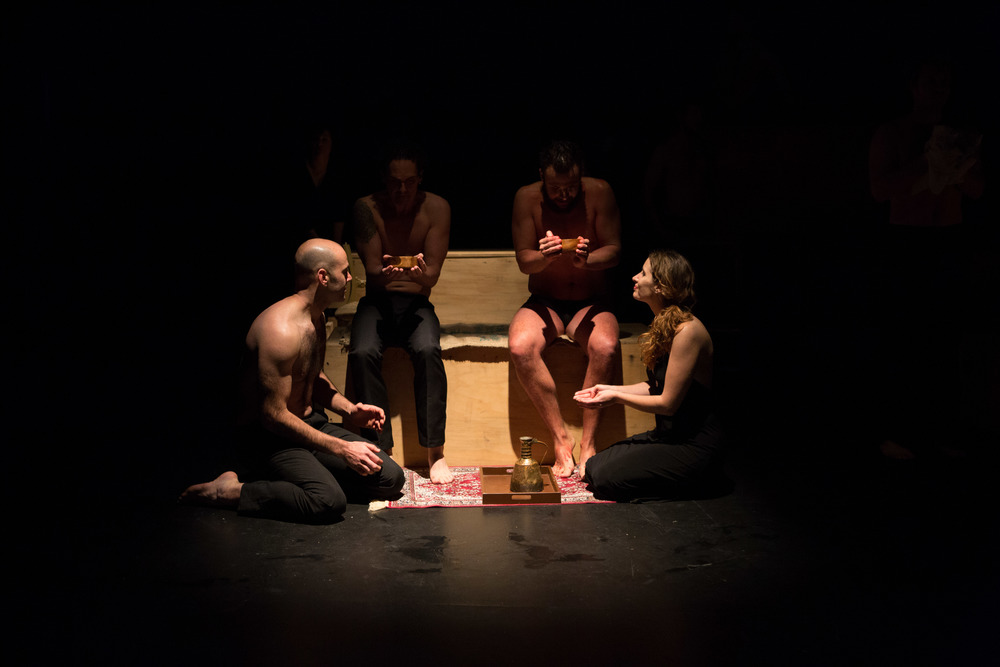 Performers: (l-r) Alex Nicholas, Jarrod Crellin, Daniel Hunter, Jacqui Livingstone | Photography by Leo Bonne