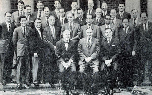 Participants at the first Begg course, 1963.