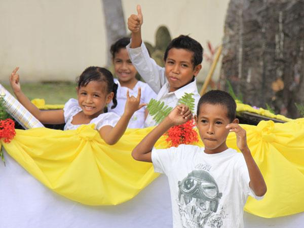 Local Timorese kids
