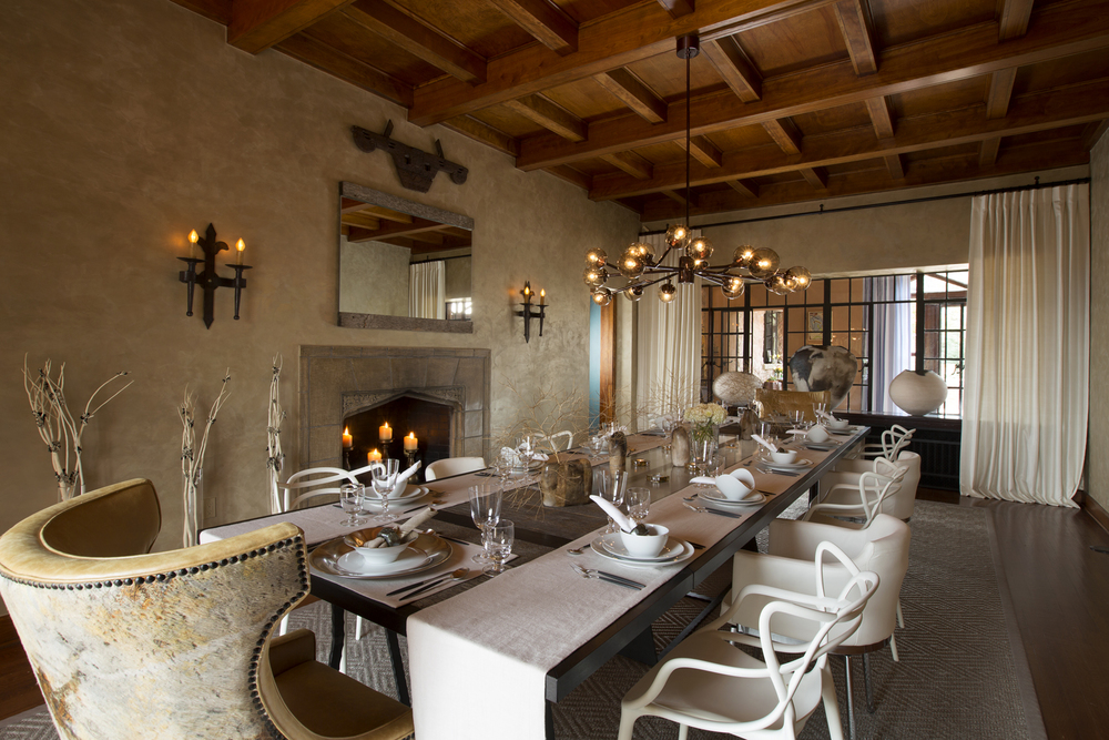ShowHouse Santa Fe 2014 - Dining Room Interiors by Lisa Samuel, Photo by Kate Russell