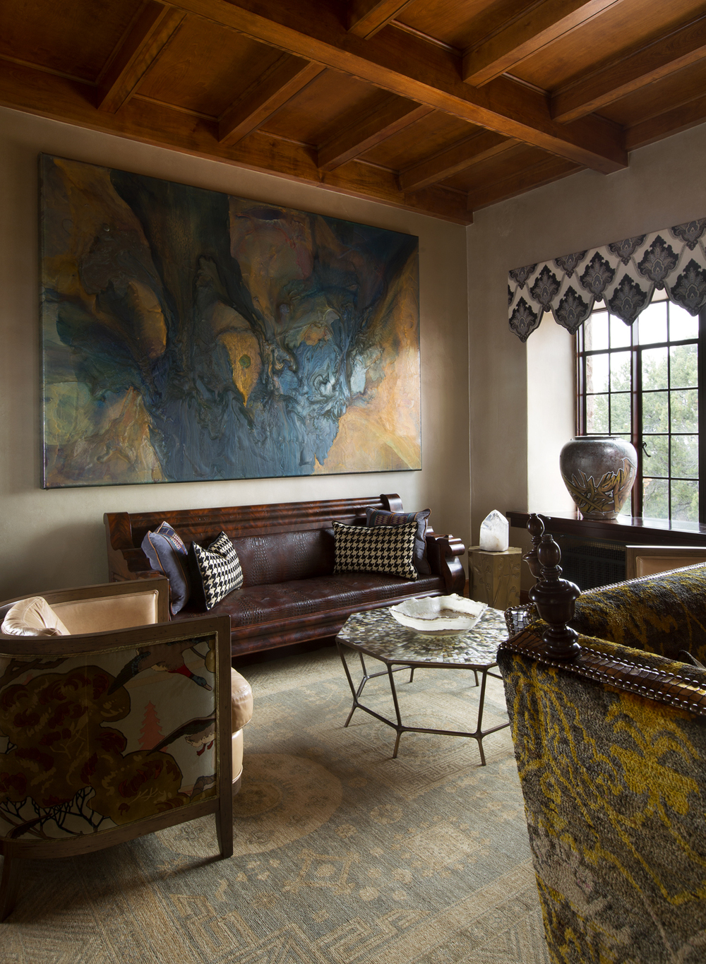 ShowHouse Santa Fe 2014 - Living Room Interiors by David Naylor, Photo by Kate Russell