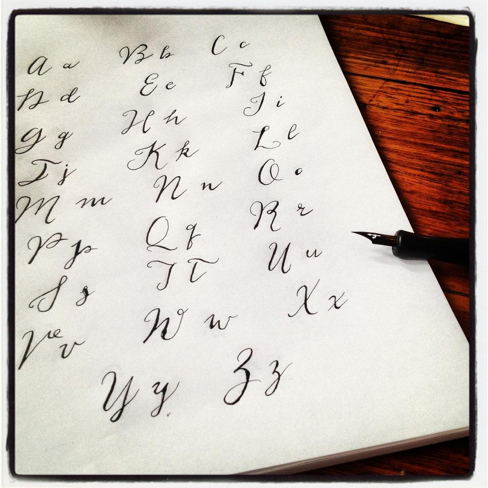 Ink practice...