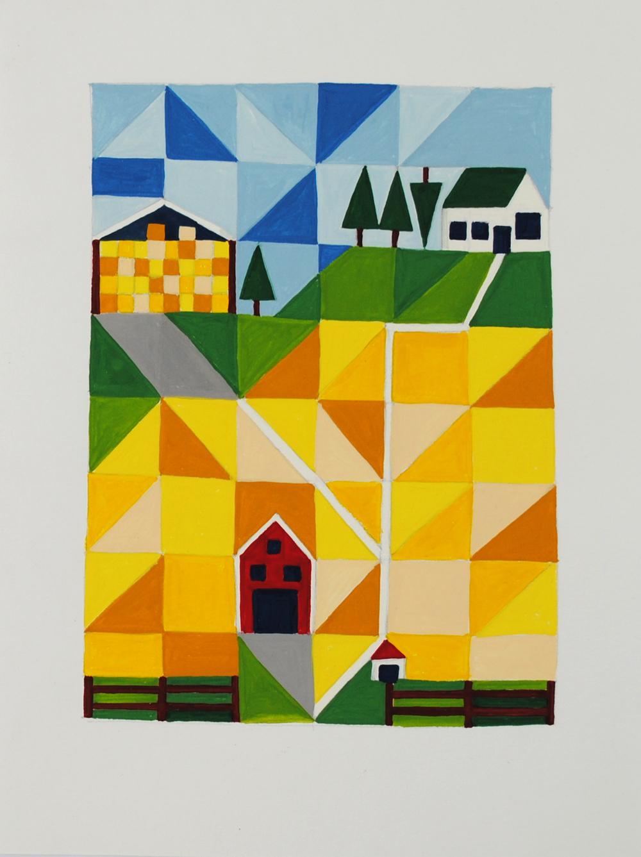 Hayfever, 2013 15 x 30cm Gouache on paper