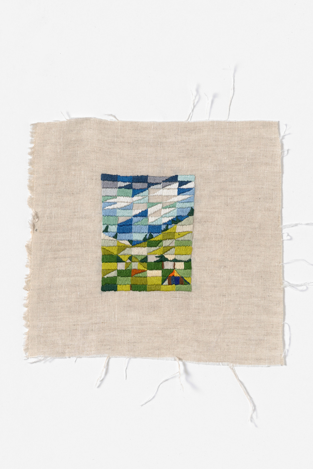 Glen Forbes 2014 Cotton thread on linen 23 x 21cm
