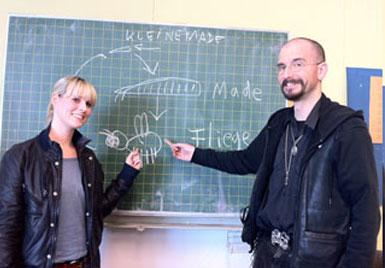 Kristina Baumjohann und Dr. Mark Benecke