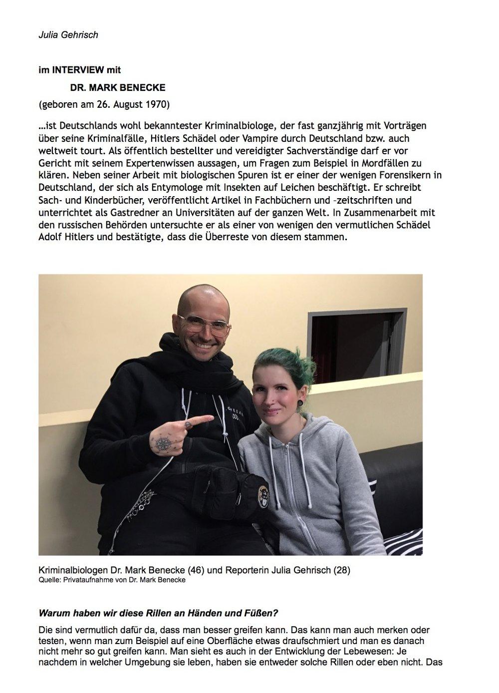 Julia Gehrisch Fingerabdruecke — Dr Mark Benecke
