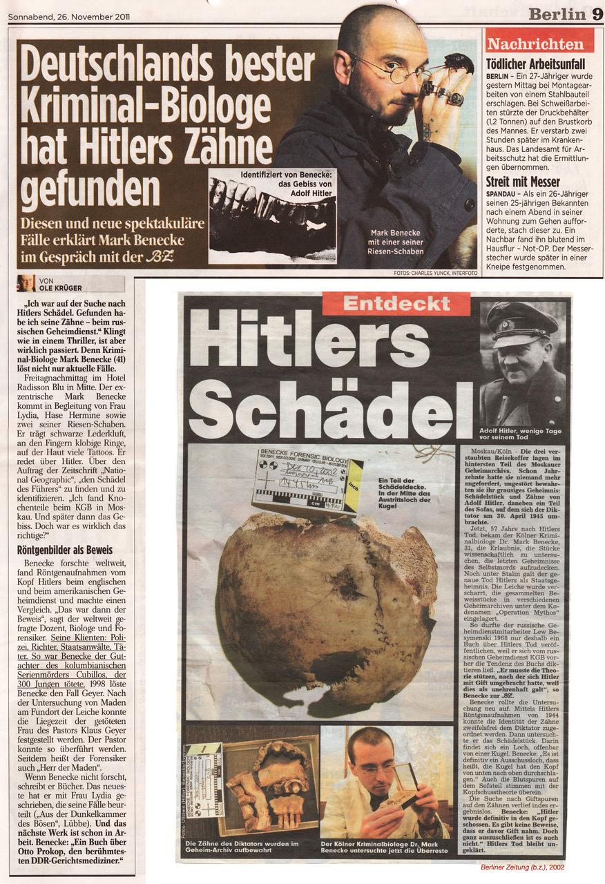 2011_11_Berliner Zeitung_Deutschlands_bester_Kriminal_Biologe_hat_Hitlers_Zaehne_gefunden_Ole_Krueger_Mark_Benecke_jpg.jpeg
