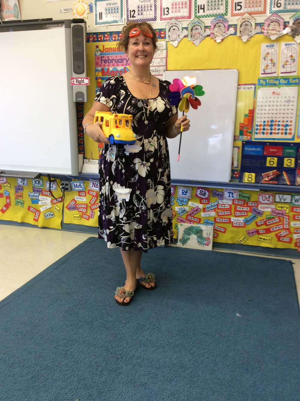 Miss Frizzle!, aka Mrs. Campbell