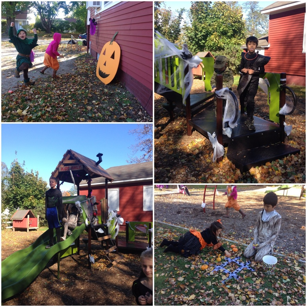 Mrs. Cooper and Mrs. Szymczak surprised the students with a spooky playground!