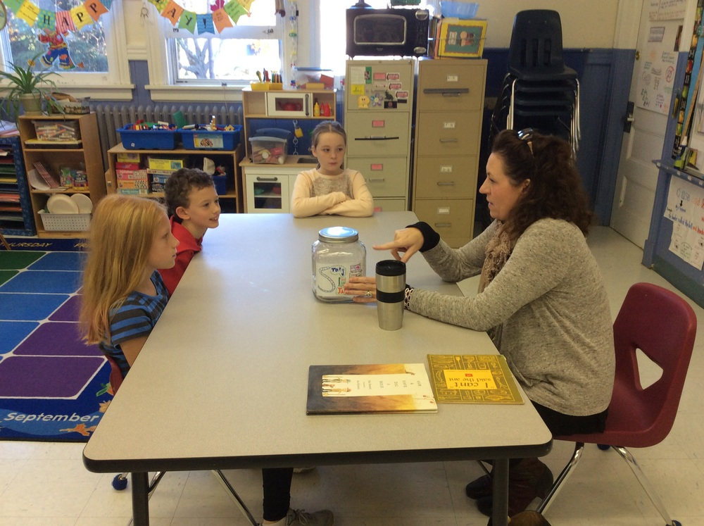 Ms. Carr visited Aulis and shared a fun, creative story starter jar. We had a lot of laughs!