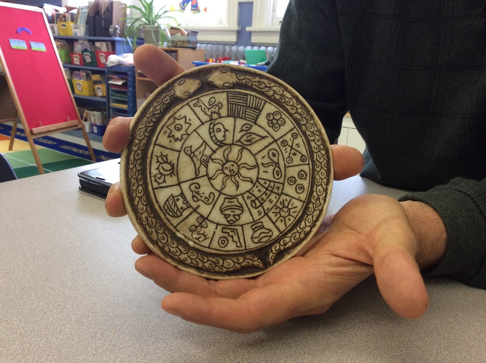 Mr. B also brought in an actual ancient Incan calendar! We researched the calendar's history and unique markings.