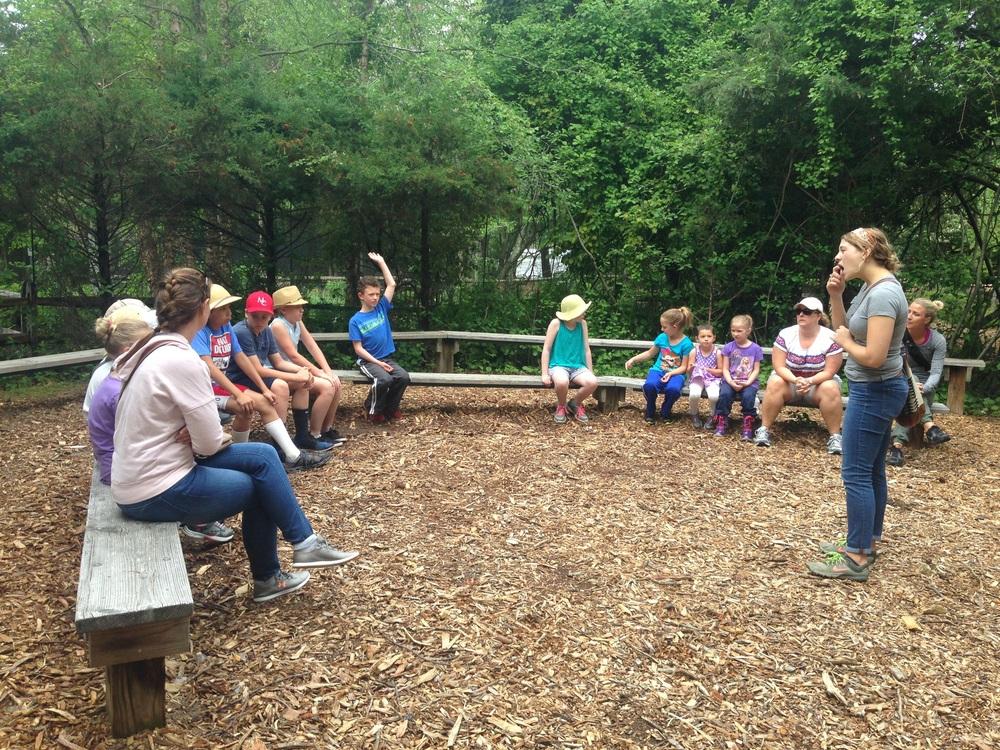 Miss Renee explaining the Refuge's mission