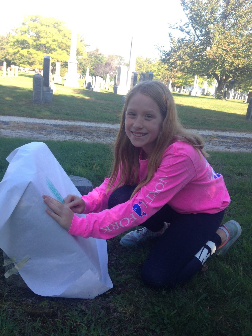 Anna was excited to find a family name of Tuthill in the cemetery