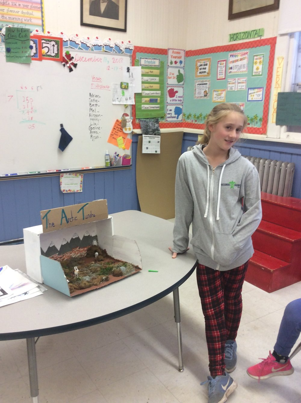 Lila taught us about the Arctic Tundra and used a diorama as her visual aid.