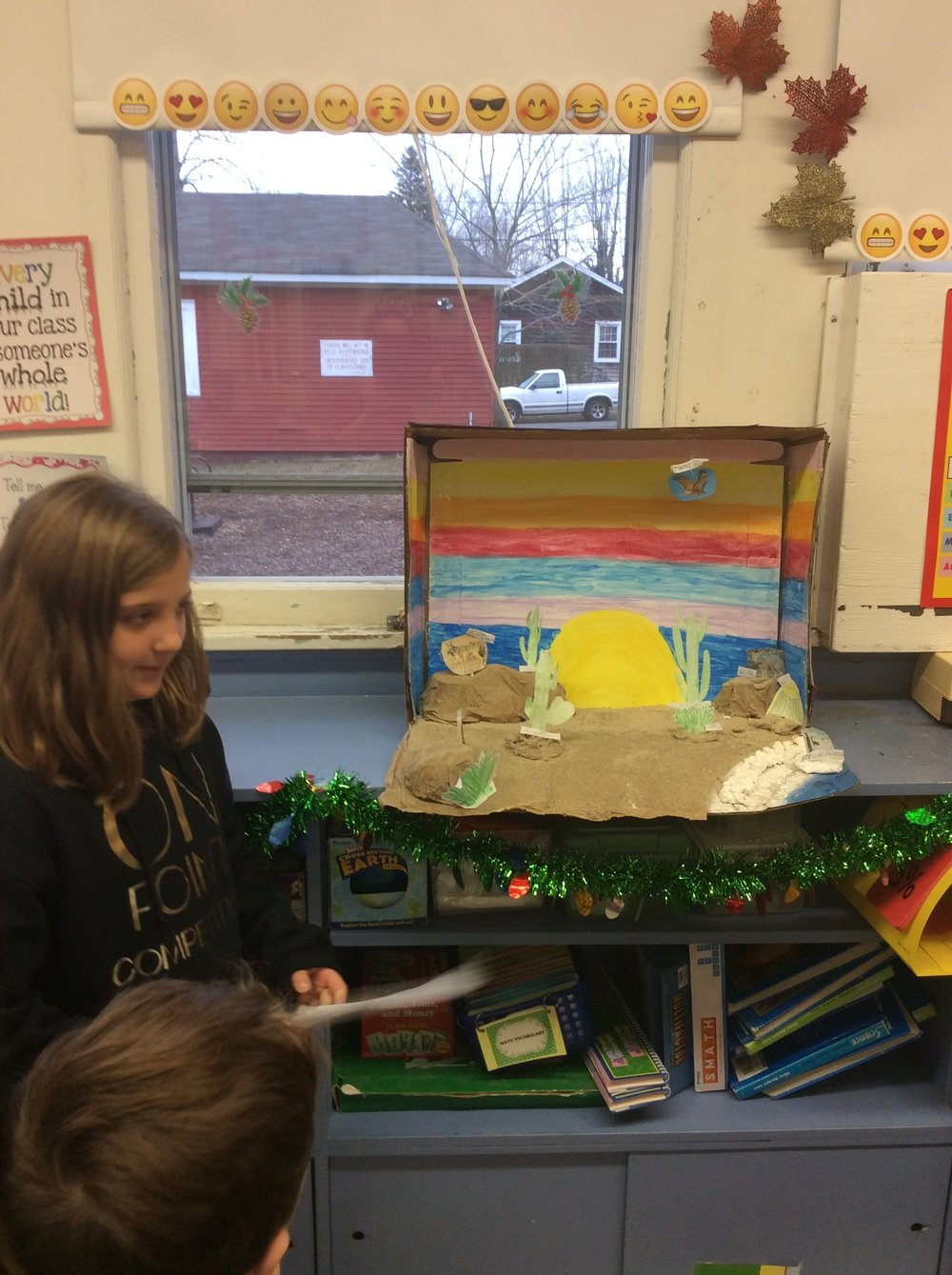 Anna studied the Desert biome and created this diorama showing us that not all deserts are hot!