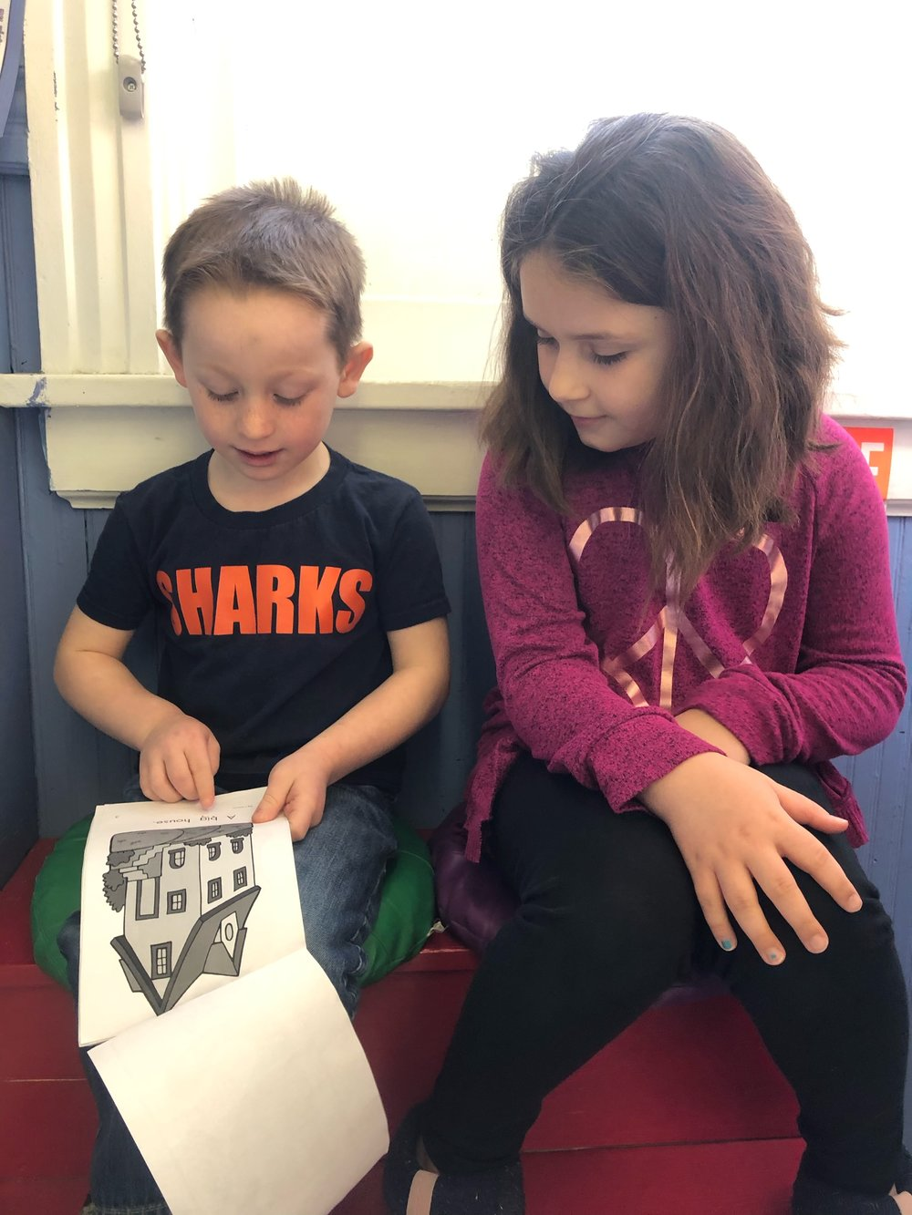 Max did a great job reading his book to Lydia!