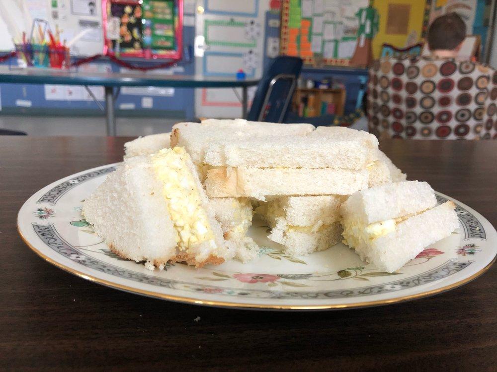 Egg salad sandwiches!