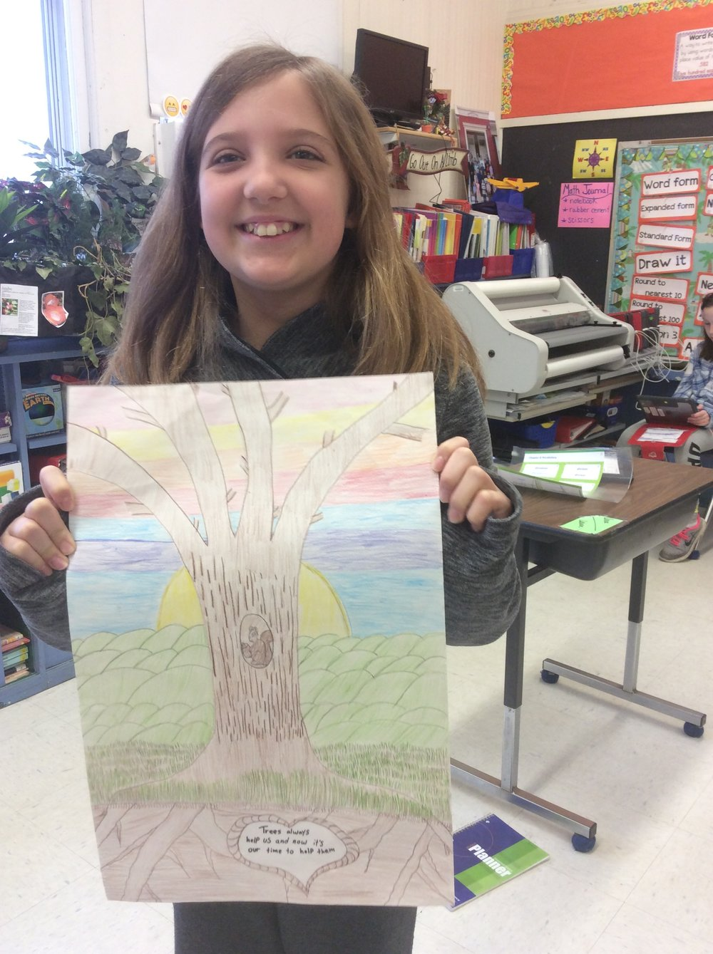 Anna's poster has lots of color and detail !