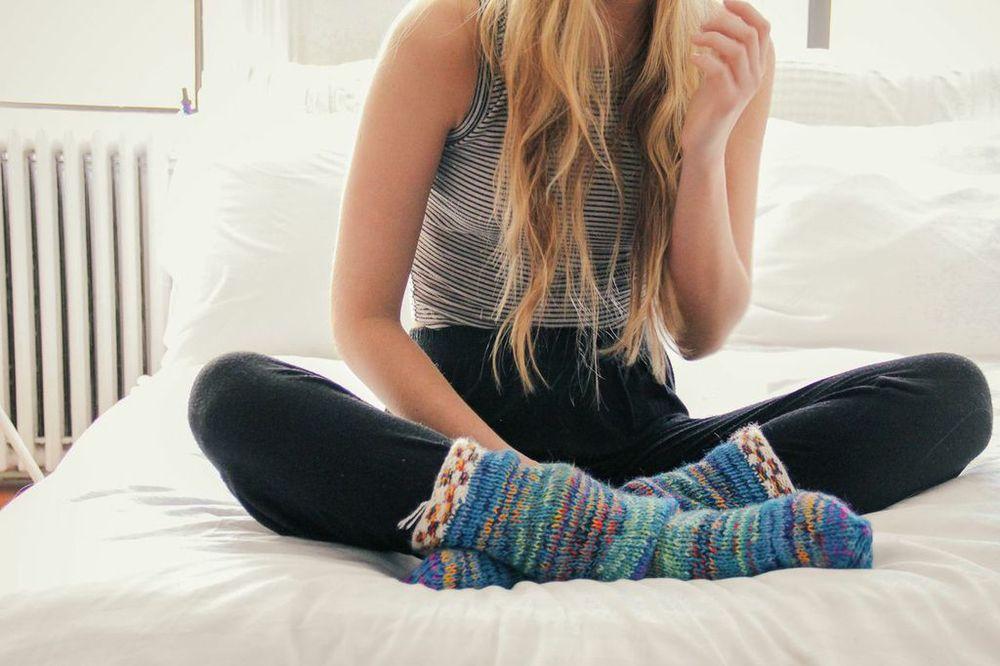 fernanda de la puente : peruvian socks
