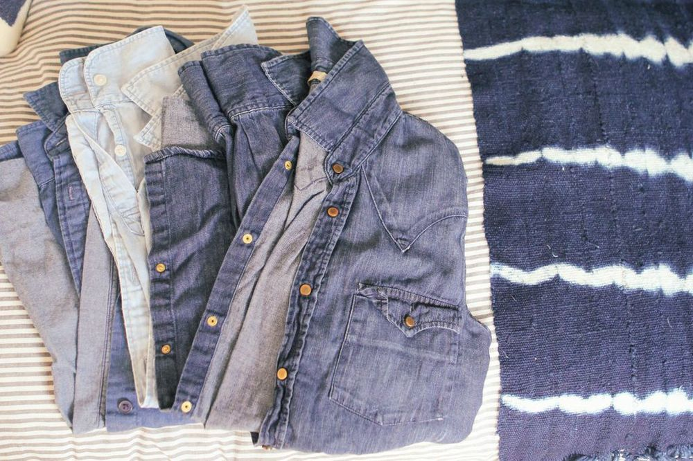 waiting for saturday : Venessa Arizaga chambray shirts