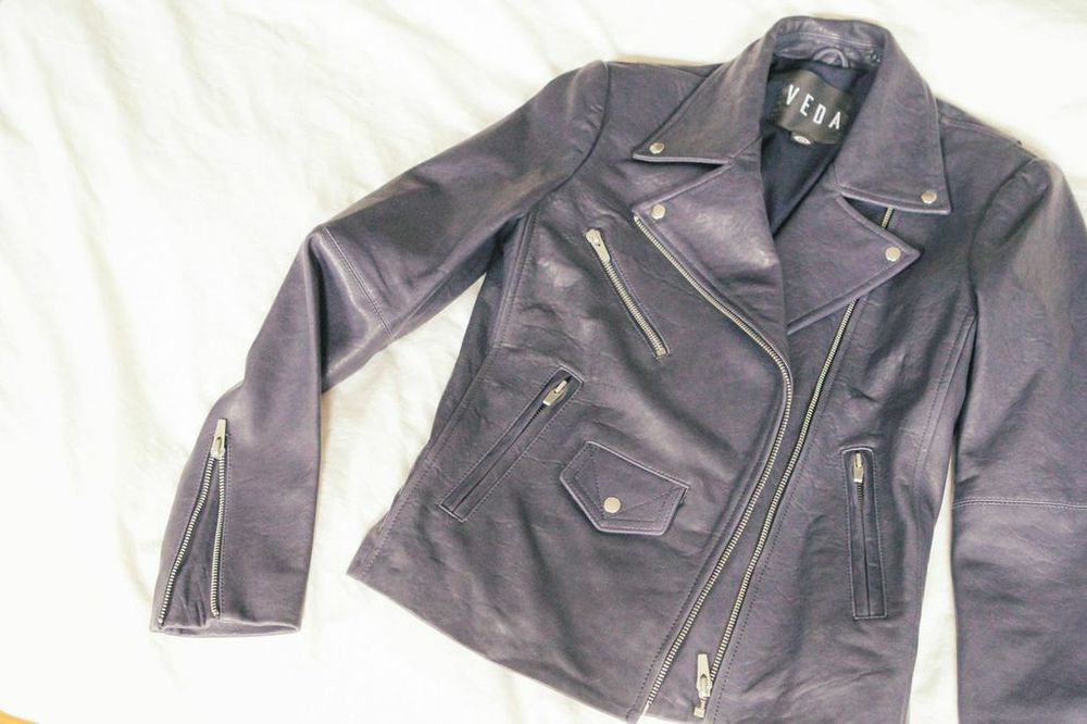 waiting for saturday : veda lazer leather jacket
