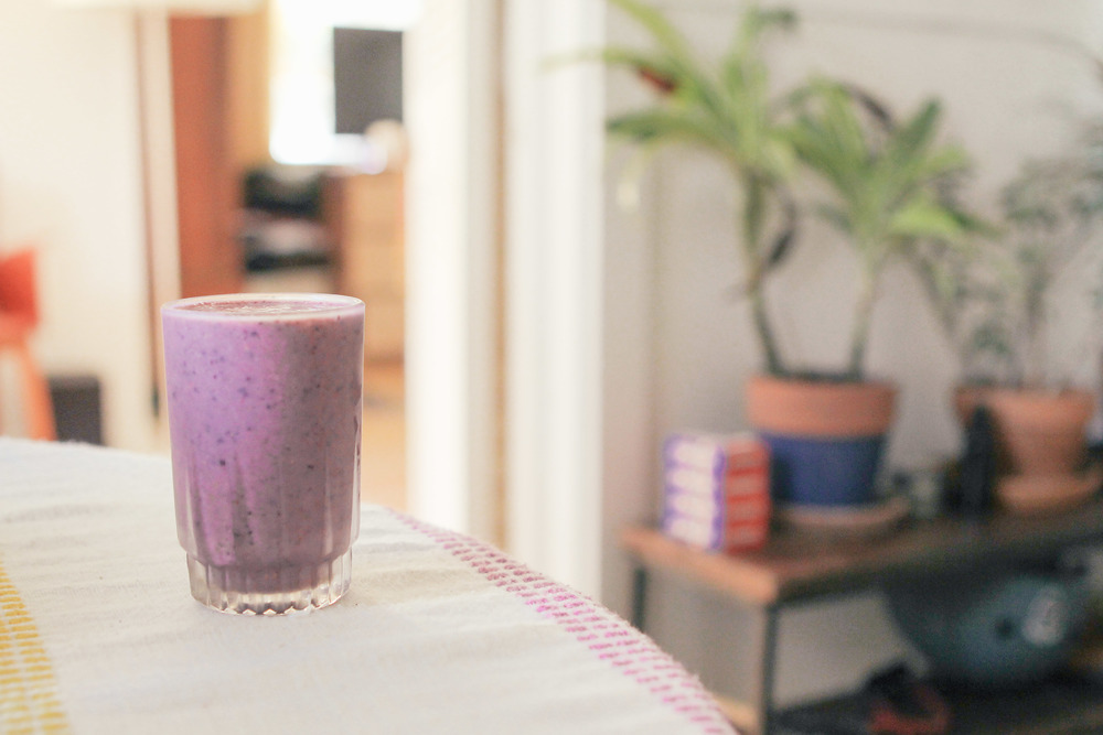 waiting for saturday : moringa powder smoothie