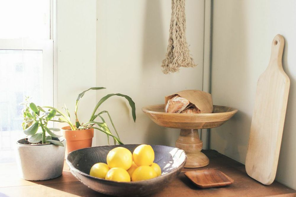waiting for saturday : style.com editor rachael wang kitchen counter lemons plants