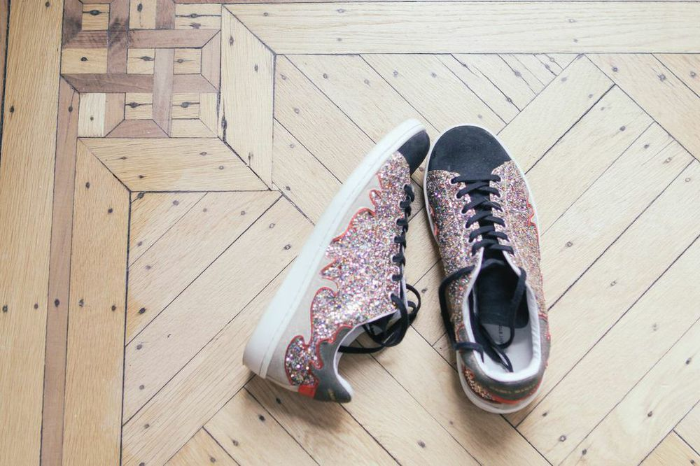 waiting for saturday : isabel marant glitter sneakers