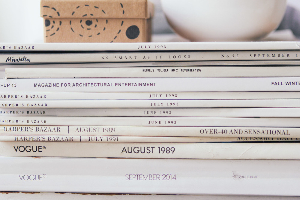 waiting for saturday : vintage magazine stack