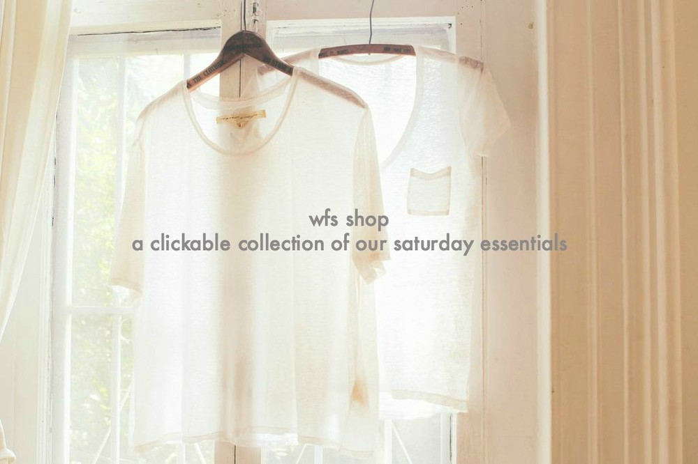 waiting for saturday : shop tab header