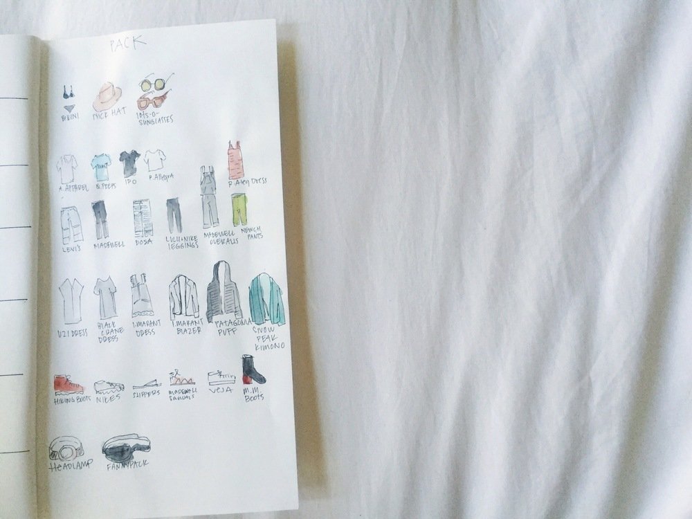 waiting for saturday : an illustrated packing list