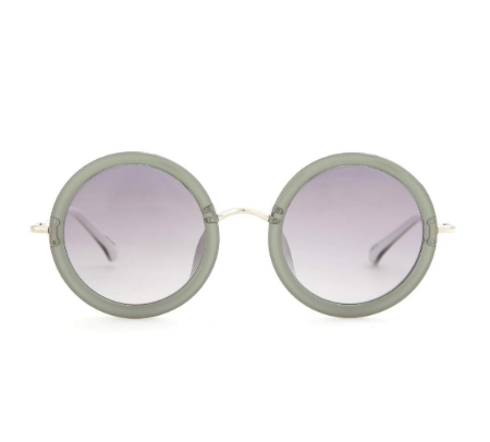 I bought these late in the season last year and was a little nervous about the gray lenses but let me tell you, these are one of those statement items you really can get away with on vacation because...you're on holiday, dammit.  - Coco