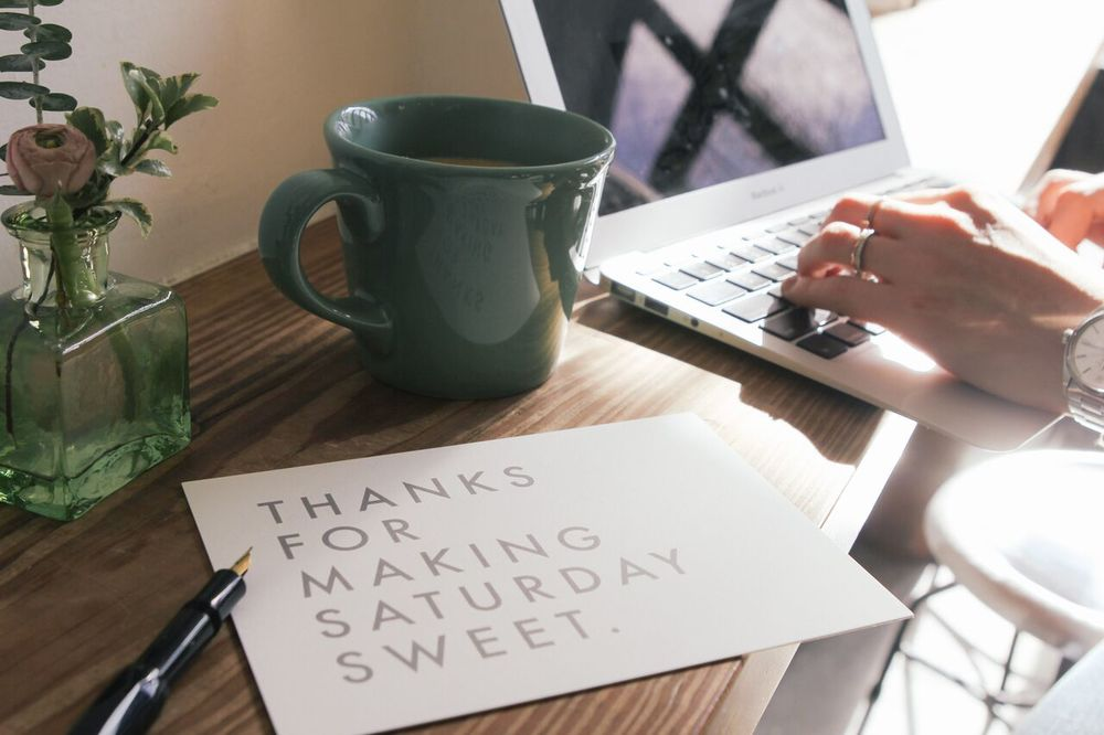 waiting for saturday : thank you cards