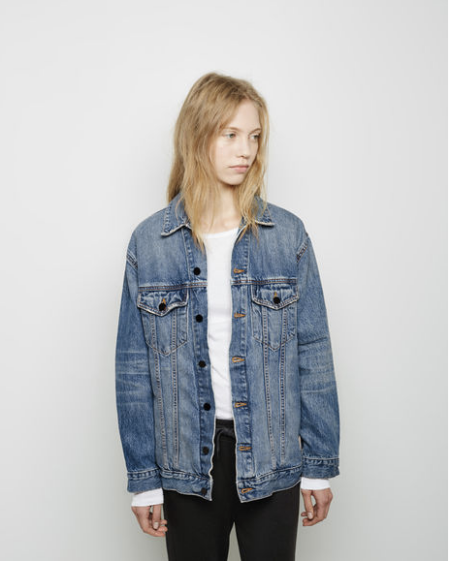In terms of layers, there's really nothing like a denim jacket. Just warm enough, but not too warm, plus the whole gets-better-with-age thing. Right now there's something particularly great about an oversized, borrowed-from-him-ish version. - Olivia