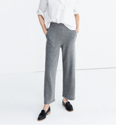 """Most knit pants are really weekend-wear, but these are downright office apropos, we say."" - Coco + Olivia"