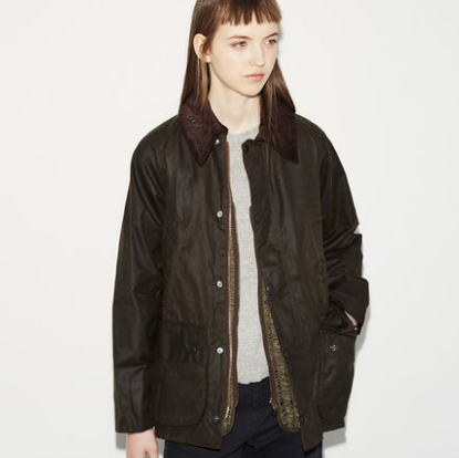 """My Barbour Bedale has been through a lot with me and though this phrase gets thrown around often, it really does look all the better for it. You want it to age and get a little messed up. The fact that the Queen of England devotedly wears one too, might be the very definition of """"classic."""" - Olivia"""
