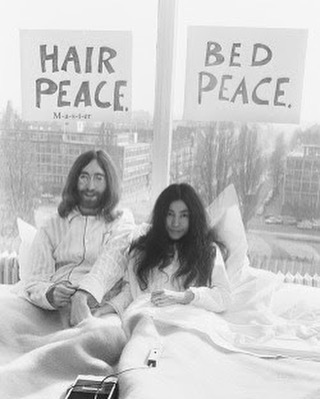 saturday the yoko and john way (📸 by gerry deiter) ✌🏻️💕#yokoono
