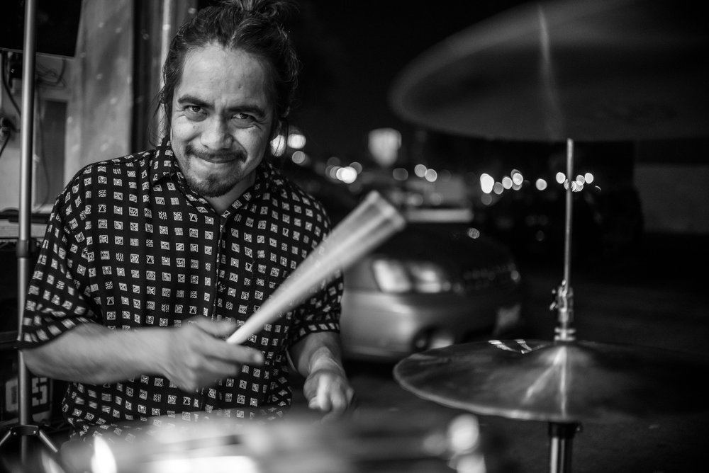 """My name is Ricky Hernandez, and I've been Kurumpaw's drummer for almost two years."""