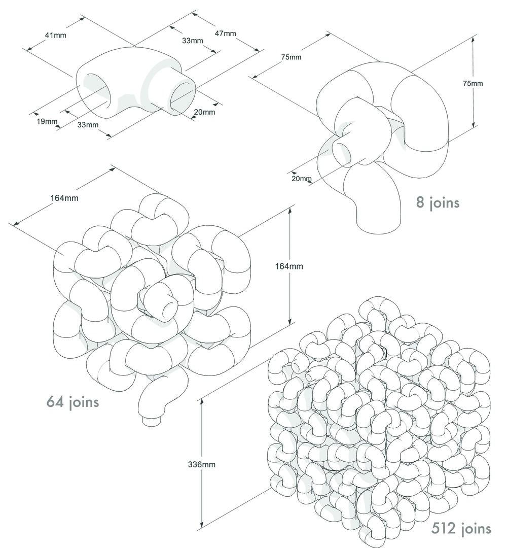 Les étapes d'assemblage du radiateur Octocube par Vivien Muller