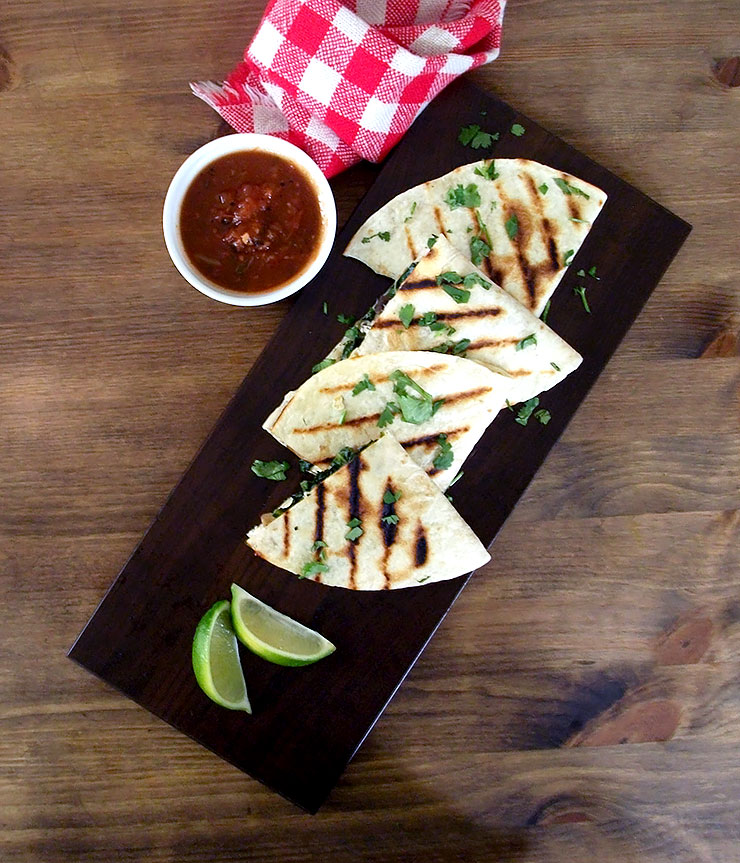 Spinach And Mushroom Quesadillas Recipes — Dishmaps