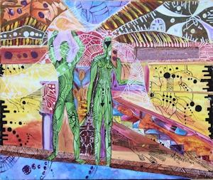 "Matthew NicoliDangleben Tobago Harvest acrylic | 24 x 20"""