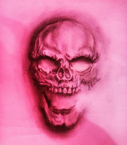 3D Ghost Skull