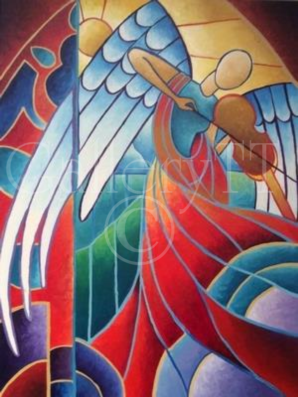 Angel #1 - Damian Moore, 2015, Acrylics, GalleryTT.com.png